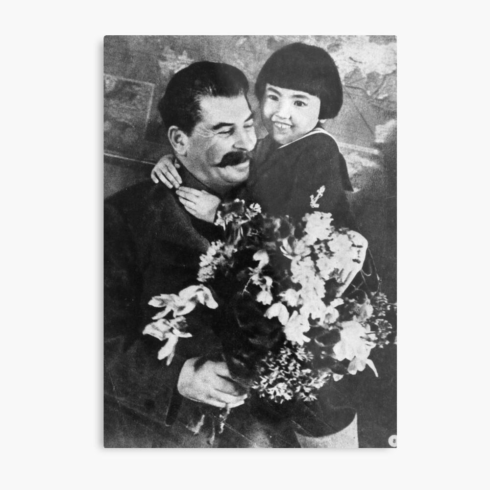 Stalins cult of personality #Сталин #ИосифВиссарионович #Ежов #Берия #Жданов #Молотов #Ленин #ГУЛАГ #Нориллаг #Культличности #репрессии #депортация #тюрьма #казнь #политзаключенный #Stalin Metal Print