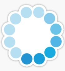 Comic Con Spinning Blue Circle Sticker
