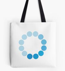 Comic Con Spinning Blue Circle Tote Bag