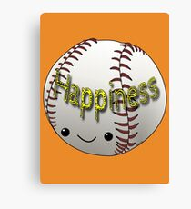 Happiness - Baseball Canvas Print