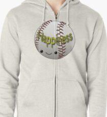 Happiness - Baseball Zipped Hoodie