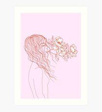 breathe with flowers Art Print