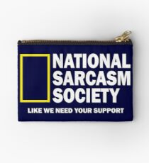 National Sarcasm Society Studio Pouch