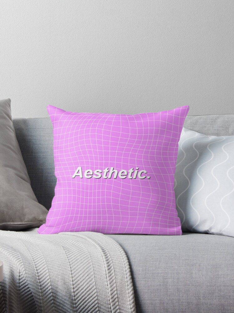 'Vaporwave Aesthetic ' Throw Pillow by HoliestDoughnut