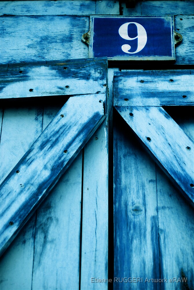 Blue door N°9 by Etienne RUGGERI Artwork