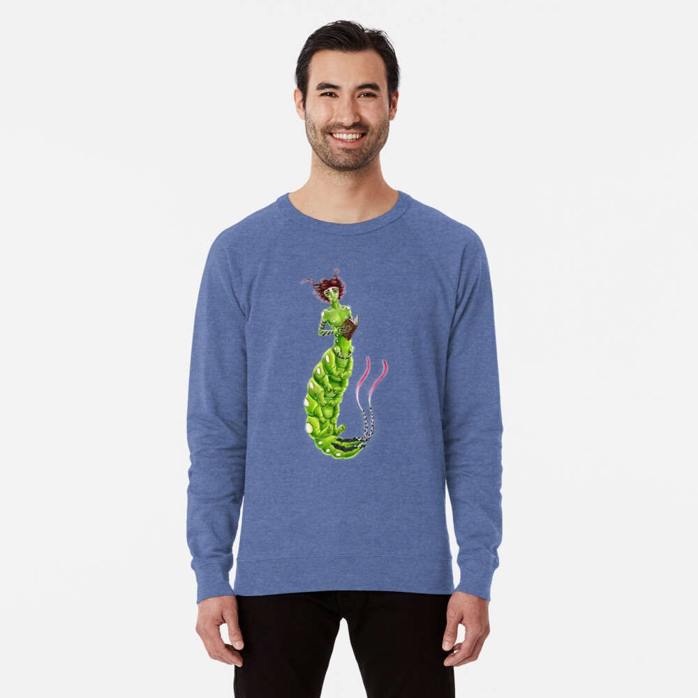 the Caterpillar Boy of Book-loving Lightweight Sweatshirt