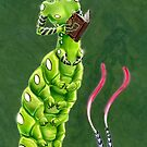 the Caterpillar Boy of Book-loving by haltijakapala