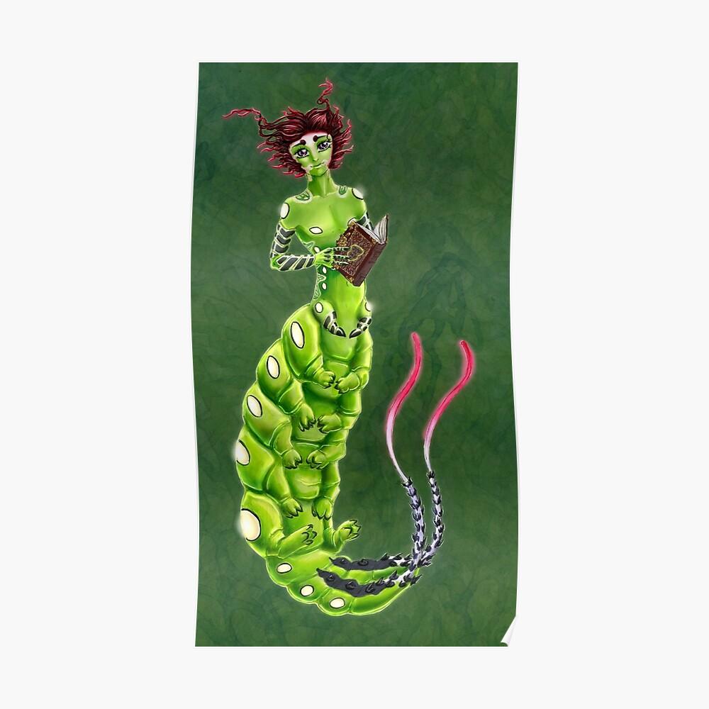 the Caterpillar Boy of Book-loving Poster