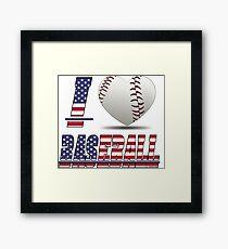 I love baseball Framed Print