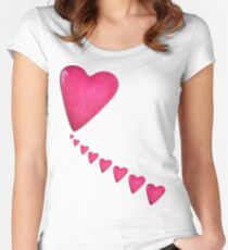 Pink Heart 1 Women's Fitted Scoop T-Shirt