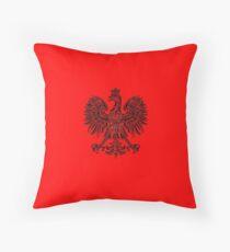 Polish eagle black Poland cote of arms Throw Pillow