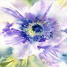 Ultra-Violet Anemone by Ruth S Harris