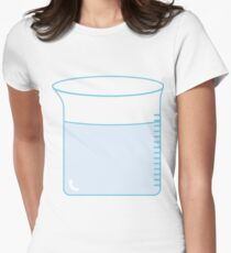 Beaker with liquid Women's Fitted T-Shirt