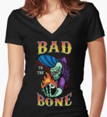 Bad to the Bone - colour Women's Fitted V-Neck T-Shirt