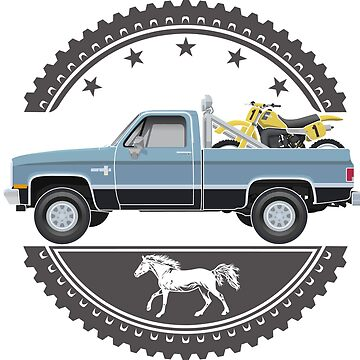 1983 Chevy Silverado Scottsdale with Yamaha YZ490K by BurrowsImages