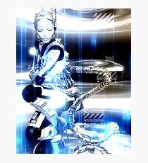 Sci Fi Robot Girl, Futuristic Beauty! Photographic Print