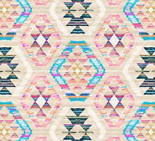 Woven Textured Pastel Kilim Pattern by micklyn