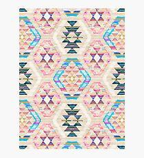 Woven Textured Pastel Kilim Pattern Photographic Print