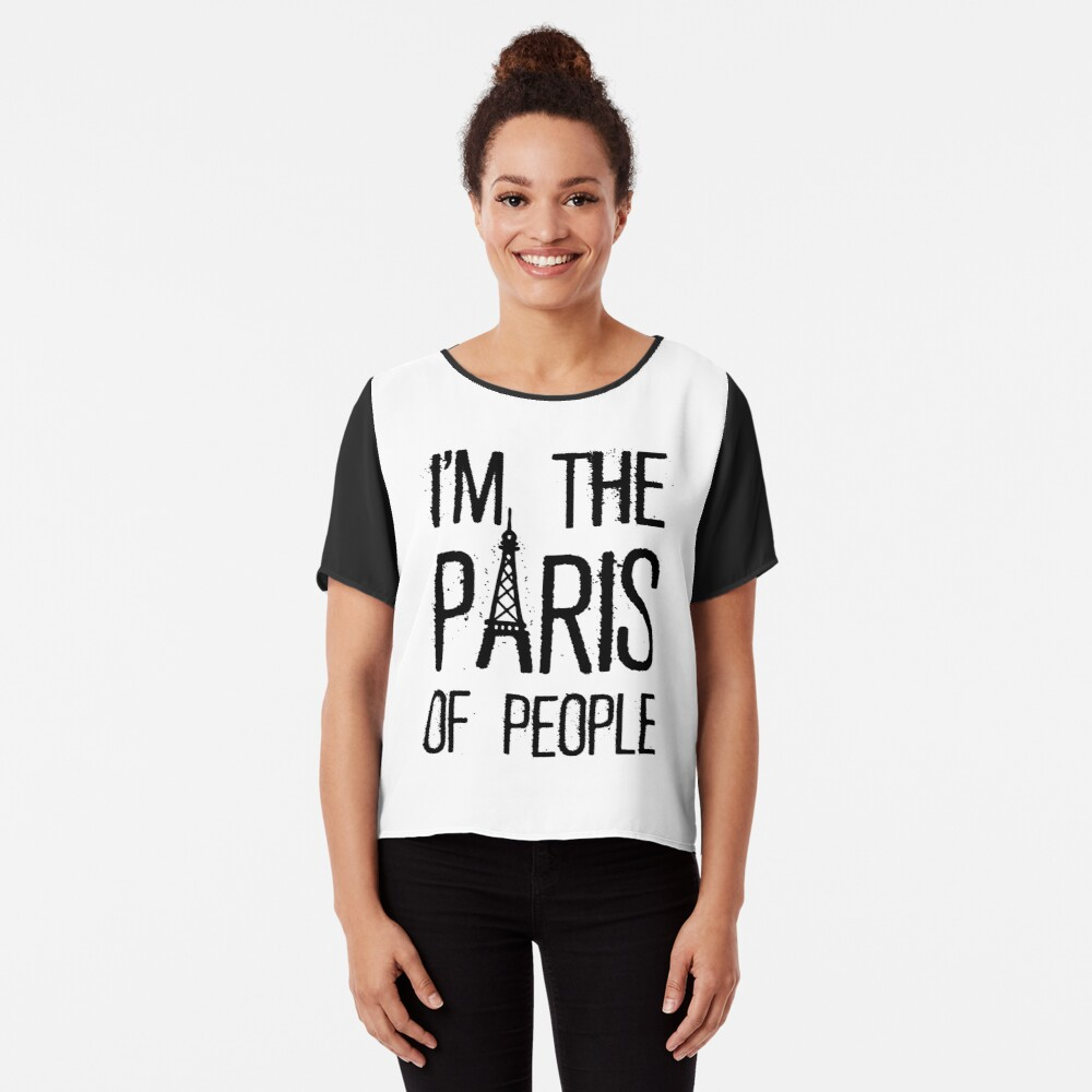 PARIS Women's Chiffon Top Front