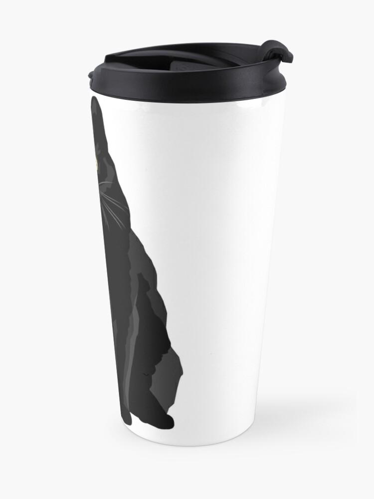 Vista alternativa de Taza de viaje Gato negro