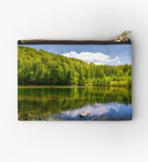 lovely pond in the forest on a hillside Studio Pouch
