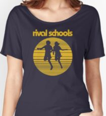 Rival Schools Logo Yellow Women's Relaxed Fit T-Shirt