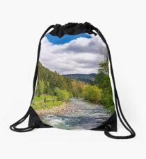Tereblya river of Carpathian mountains Drawstring Bag