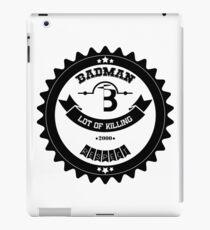 BADMAN Vintage Black and White Design iPad Case/Skin