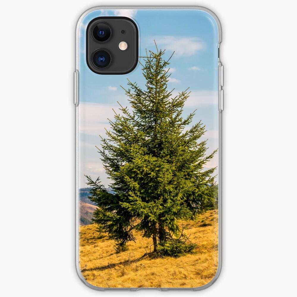 spruce forest in springtime landscape iPhone Soft Case