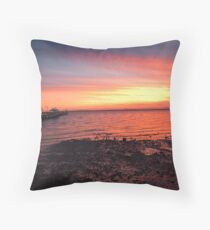 Woody Point Sunset Throw Pillow