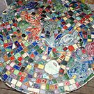 Mosaic Table   by catherine walker