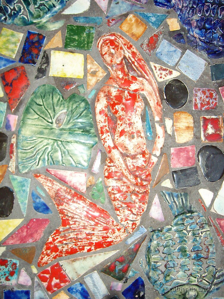 detail of Mosaic table by catherine walker