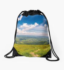 path through the mountain ridge Drawstring Bag