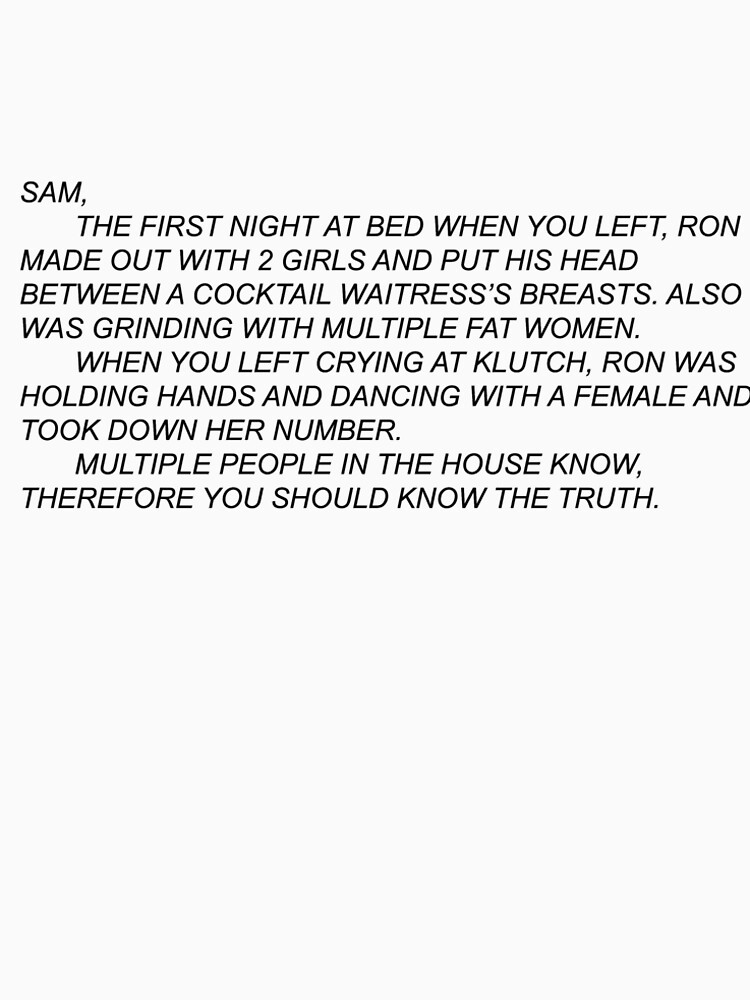 Anonymous Letter to Sammi by emilysimpsonxo