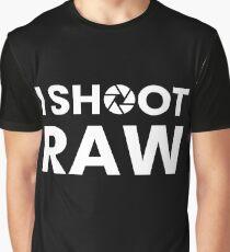 I SHOOT RAW - WHITE Graphic T-Shirt
