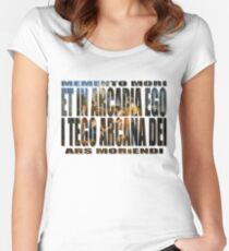 ET IN ARCADIA EGO - I TEGO ARCANA DEI Women's Fitted Scoop T-Shirt