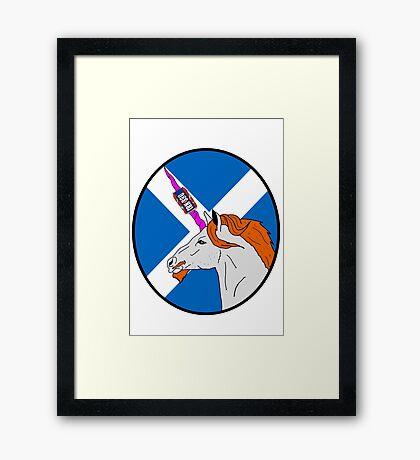 The Ginger Unicorn Framed Print