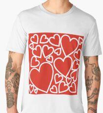 hearts Men's Premium T-Shirt