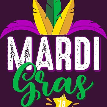 Mardi Gras 2018 - Carnival Gift - French - Fleur de lis - New Orleans by Cheesybee