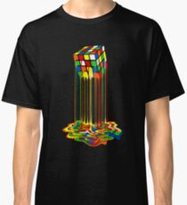 Rainbow Abstraction melted rubiks cube Classic T-Shirt