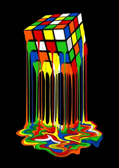 Rainbow Abstraction geschmolzen Rubiks Cube von Galih Sanjaya Kusuma wiwaha
