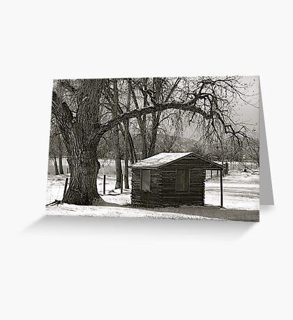 Log cabin Greeting Card