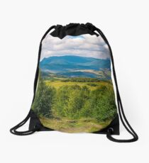 beautiful countryside of Crapathians  Drawstring Bag