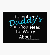 Daddy's guns Photographic Print