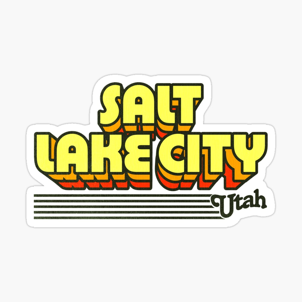 Salt Lake City, Utah | Retro Stripes Sticker