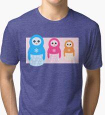 Winter matrioshka candy penguins Tri-blend T-Shirt