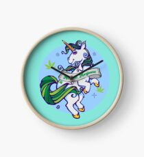 Medical Marijuana Unicorn Clock