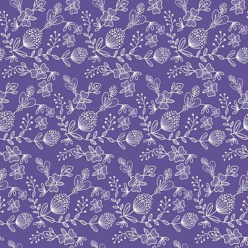Purple And White Floral Pattern by semas