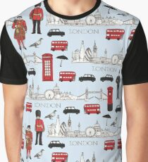 Camiseta gráfica London Skyline e iconos