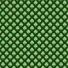 Shamrock Clover Polka dots St. Patrick's Day green pattern by PLdesign